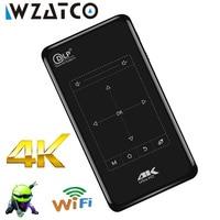 WZATCO мини-проектор C9 строить-в Android 6,0 WI-FI, 5000 mAH Батарея, BT4.1 Портативный проектор Поддержка 4 K, 1080 P HD проектор