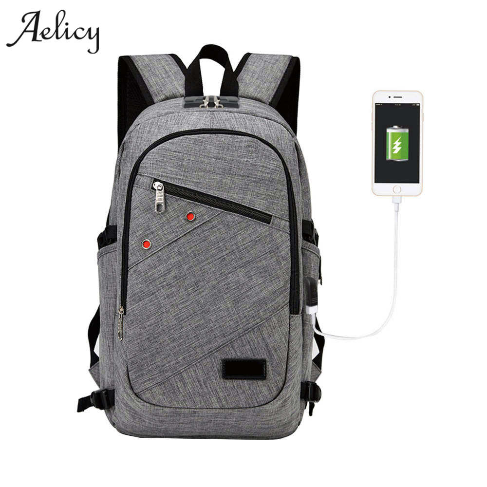 Aelicy high quality Laptop Backpack with USB Charging Port and Lock Fits Under 17 Inch Laptop and Notebook Anti Theft Backpack for pc and mac nobletlocks ns20t xtrap notebook cable lock laptop lock 6feet