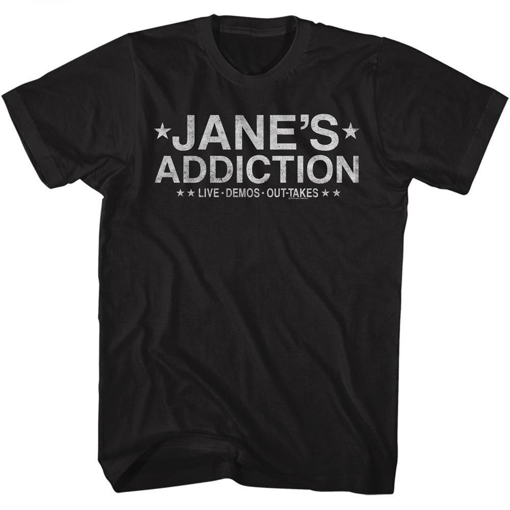 Janes Addiction Live Demos Out Takes Adult T Shirt Rock Music ...