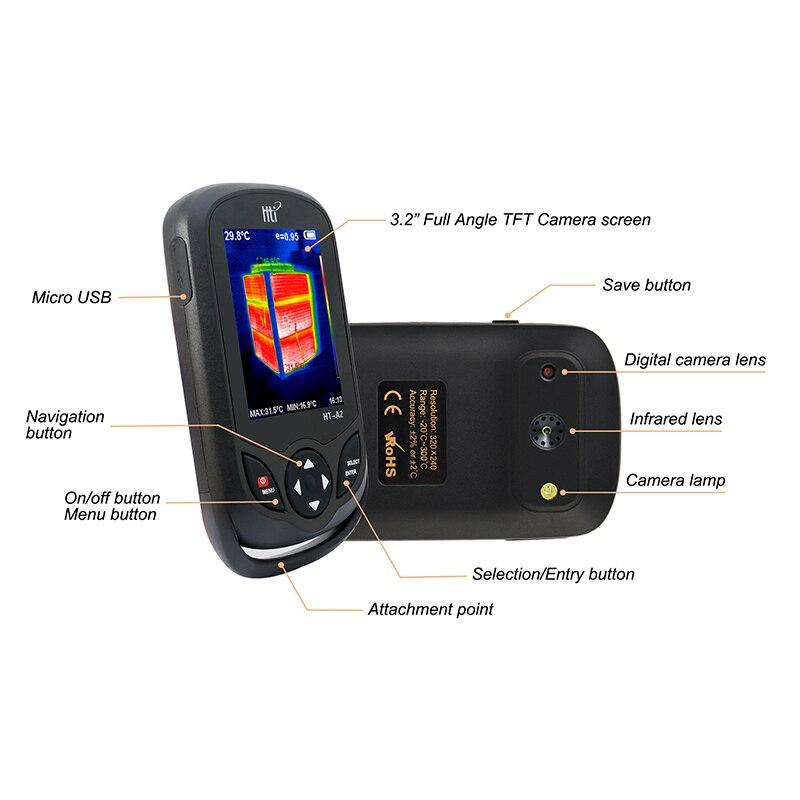 Инфракрасный термометр профессиональный ручной HD Инфракрасный Тепловизор портативный инфракрасный термометр ИК тепловизор инфракрасный