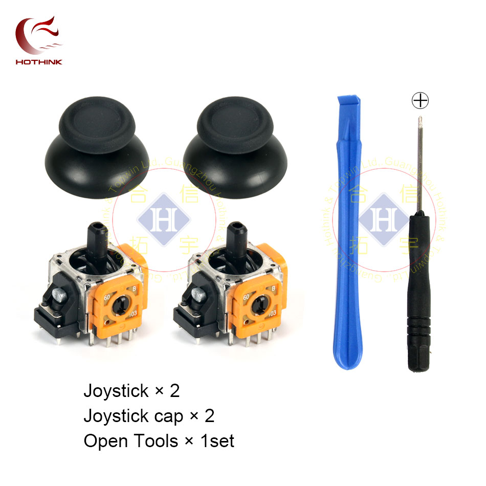 HOTHINK New Replacement 3D Joystick Analog Sensor Module with cap and opening tool for Playstation 4 PRO PS4 Pro controllers