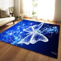 Modern 3D Dream Unicorn Butterfly Carpet Home Decor Living Room Rugs Soft Flannel Bedroom Jellyfish Area Rug Carpet Large Mat
