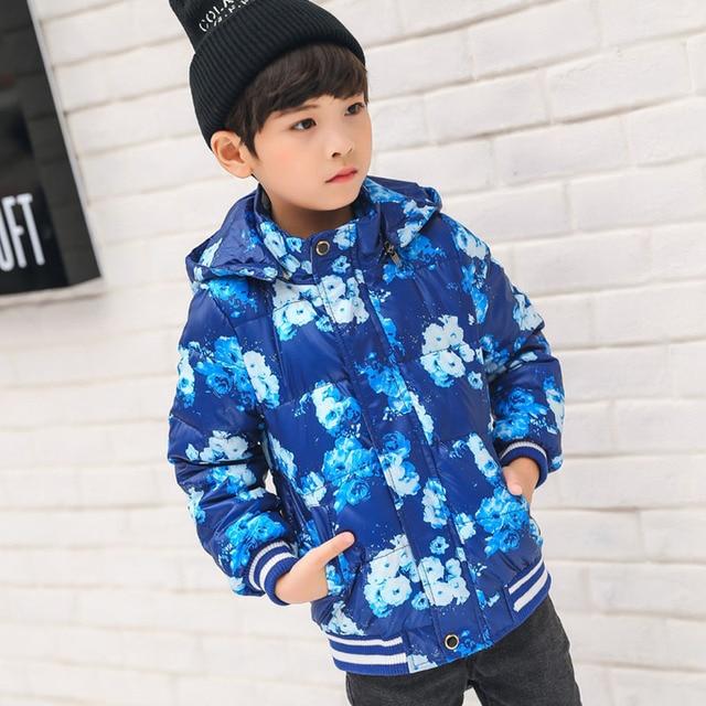 625ab7a4b3d0 Child Outerwear Warm Coats Sporty White Duck down Coat Kids ...