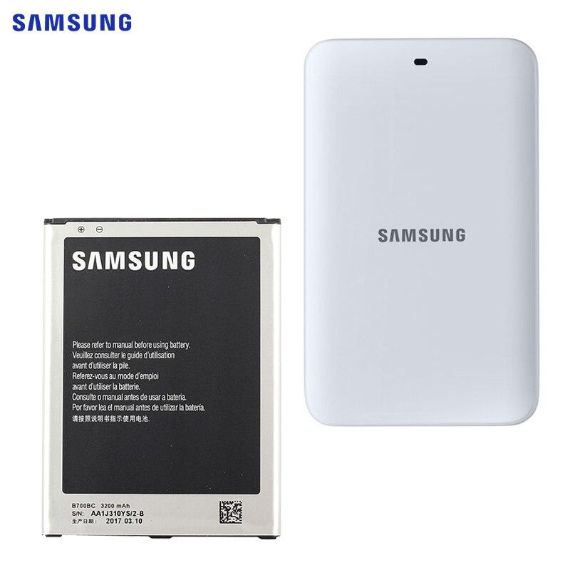 SAMSUNG B700BC Bateria de Substituição Original Para Samsung Galaxy I9200 Galaxy Mega 6.3 Autêntico carregador de Mesa Da Bateria 3200 mah