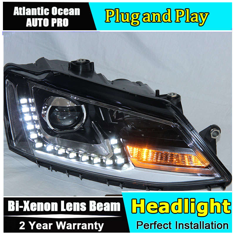 Auto.Pro Car Styling for VW Jetta MK6 Headlights Jetta LED Headlight GTI drl Lens Double Beam HID KIT Xenon bi xenon lens high quality car styling case for vw beetle 2013 2014 headlights led headlight drl lens double beam hid xenon car accessories