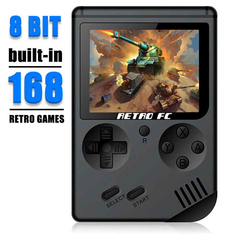 Video Game Coolbaby RS-6A Retro 8-Bit LCD Portátil Mini Handheld Console Game Boy Kids Color TV Game Player Embutido 168 Jogos