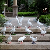 Rustic artificial animal sculpture resin Pigeons craft decoration outdoor courtyard props 11pcs/lot garden decor home craft