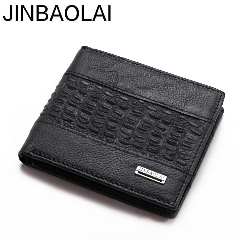 New 2018 Men Wallet Brand Fashion Design Genuine Leather Short Bifold Men Wallet Credit Card Holder Wallet Purses Male Wallets