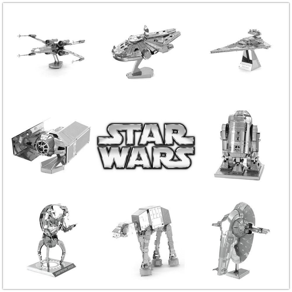 New Miniature Star Wars 3D Metal Puzzle Scale Model R2D2