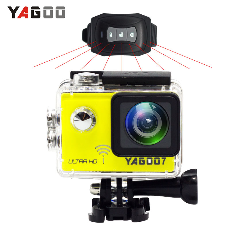YAGOO7 Camera 4k 24fps Action Camera WIFI 16MP Full HD 1080P 60FPS 2.0LCD Diving 30M Waterproof Sport Camera mini cam wimius 20m wifi action camera 4k sport helmet cam full hd 1080p 60fps go waterproof 30m pro gyro stabilization av out fpv camera