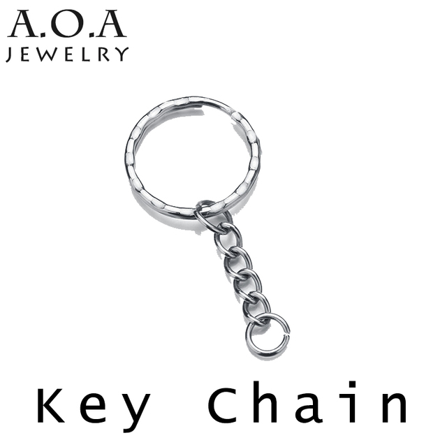 07343e5f575 US $1.49 10% OFF|Classical Short Chain Link Key Chain Top Quality Stainless  Steel Round Keychain Drop Shipping-in Key Chains from Jewelry & ...