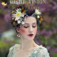 Leuke Bloemen Clips Voor Bruiloften Natuurlijke Stijl Hoofdbanden Bruiloft Haaraccessoires Prinses Hoofdtooi Handgemaakte Haar Ornamenten