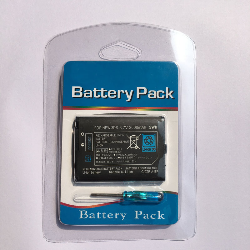 100% Brand New 3.7V 2000mAh Rechargeable <font><b>Battery</b></font> Power <font><b>Pack</b></font> Replacement with tool For Nintendo New <font><b>3DS</b></font> Game Console image