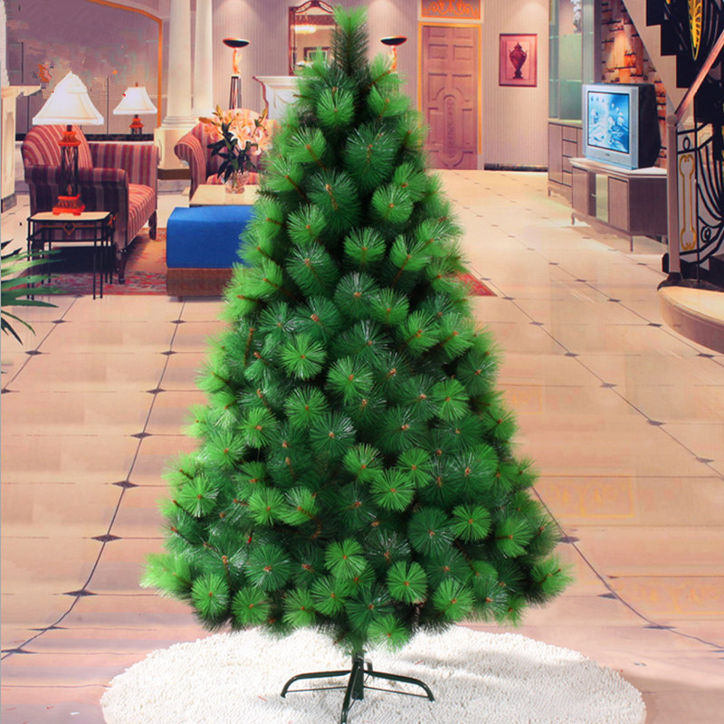 1 5 m 150cm color green pine needle tree pvc plastic - Pinos de navidad artificiales ...