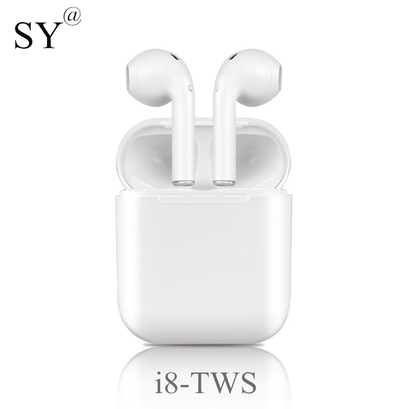 Date Mini i8-tws Bluetooth Écouteurs avec Boîte De Charge Sport Casque sans fil Écouteurs Casque i8x pour l'iphone Tout Téléphone Intelligent