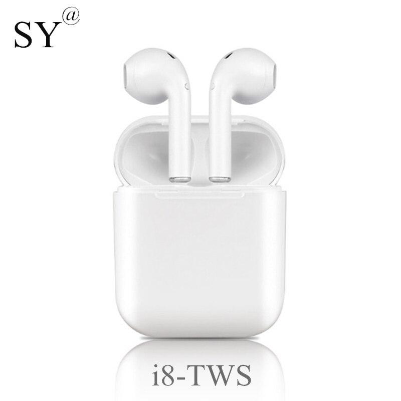 Nuevos Mini i8-tws auricular Bluetooth con caja de carga auriculares deportivos auriculares inalámbricos auriculares i8x para el iPhone todo el teléfono elegante