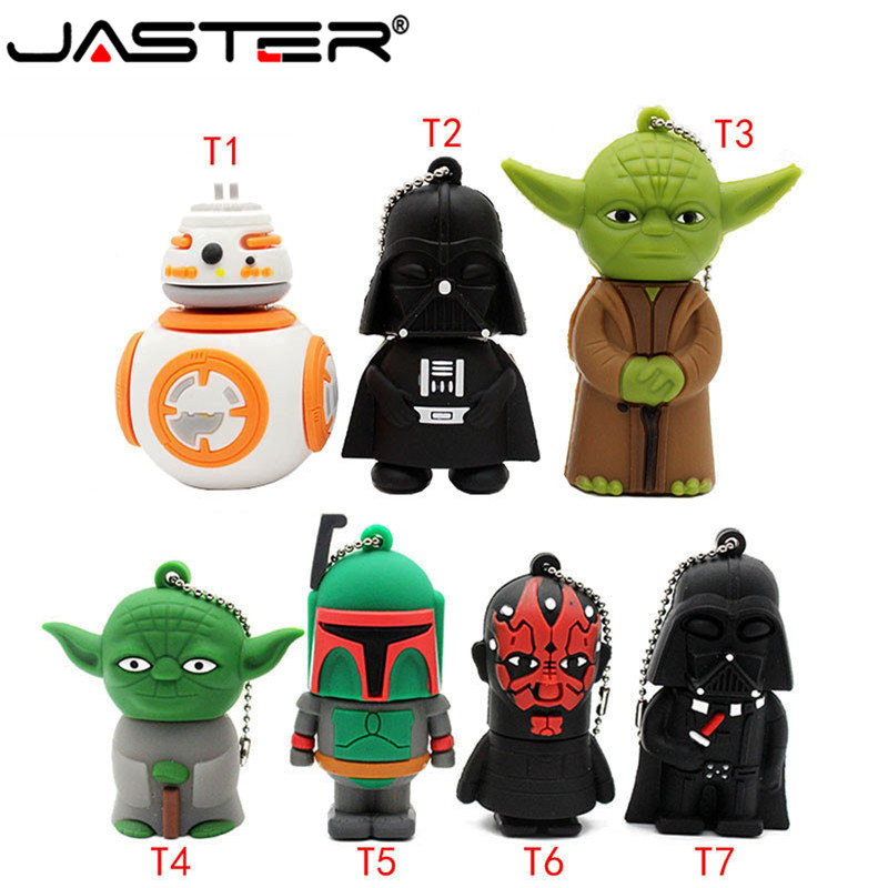 JASTER Usb Flash Drive Gifts Star Wars Pen Drive 4gb 8gb 16gb Star War Dark Darth Vader Drive Flash Usb Pendrive Memory Stick