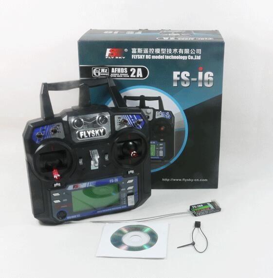 Flysky FS-i6 AFHDS 2A 2.4 GHz 6CH récepteur émetteur de système Radio pour avion RC