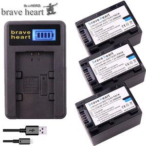 3x 2500mAh NP-FV70 NP FV70 NPFV70 battery + LCD USB Charger for Sony NP-FV50 FV30 HDR-CX230 HDR-CX150E HDR-CX170 CX300 Z1