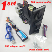 EU1 Multi coin Coin Acceptor Coin Selector for Vending Machine kiosk machine easily programmed by PC programmer
