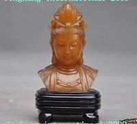 Старый Китай Шушан камень Буддизм Кван Юн Гуаньинь Бодхисаттвы половина тела статуя