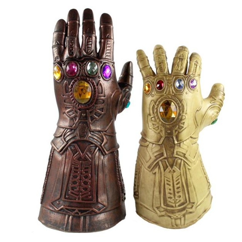 The Avengers 3 Infinity Gauntlet Cosplay Prop Model PVC Gloves Mask Cos Anime Toys Halloween Costumes For Men Adult High Quality