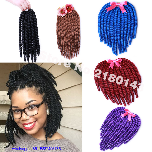 Cute Short Crochet Hairstyles : Short Havana Mambo Twist Hair Crochet Braids Hair 75g/Pack Summer Cute ...