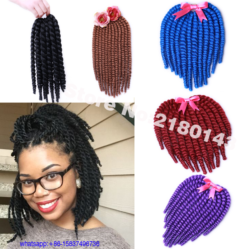 Crochet Hair Twist Packs : Twist Hair Crochet Braids Hair 75g/Pack Summer Cute Senegalese Twists ...