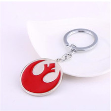 10pcs/lot Wholesale Star Wars The Rebel Alliance Keychain Metal Alloy Key Rings Gift Chaveiro Key Chain Men Jewelry цена 2017