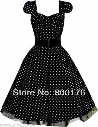 46da14f06e9 Detail Feedback Questions about Drop Shipping summer dress Womens Plus Size  Dress Black Polka Dot Rockabilly