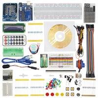2017 Starter Kit For Arduino Step Motor Servo 1602 LCD 74HC595 Resistance Breadboard Jumper Wire For