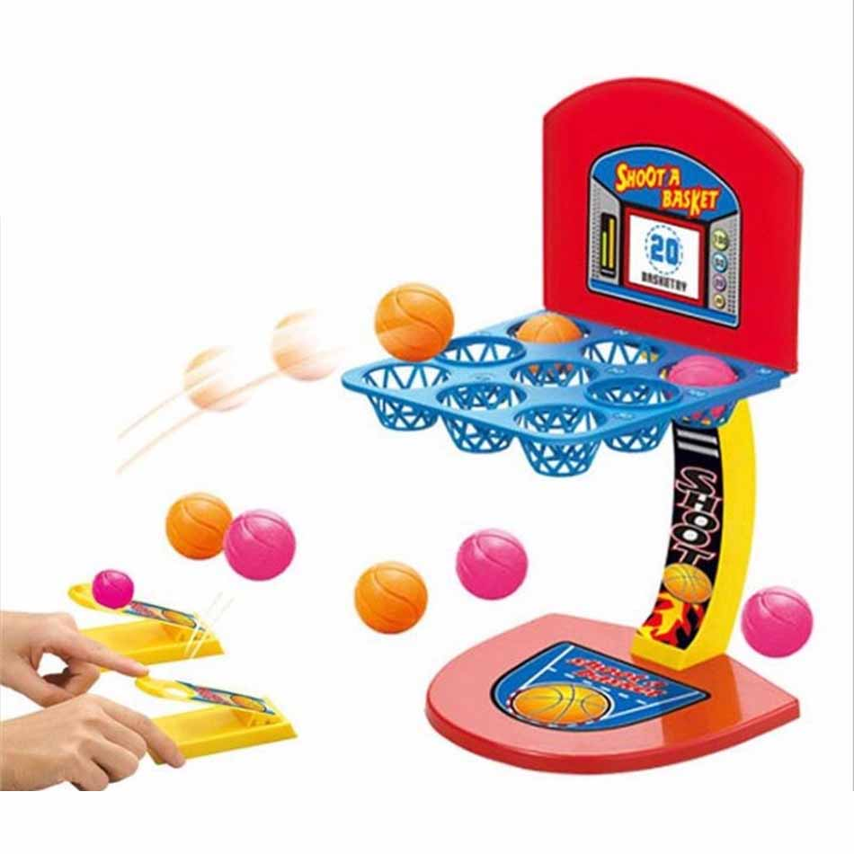 HOT SALE Kid's Desktop Game Mini Shooting Basketball Sports Game Educational Toys Interative Marbles Game Children Creative To desktop mini finger basketball shooting game educational toy parent child