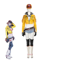 2017 Athemis Final Fantasy Cindy Aurum Cosplay Costumes Woman Yellow Mechanic