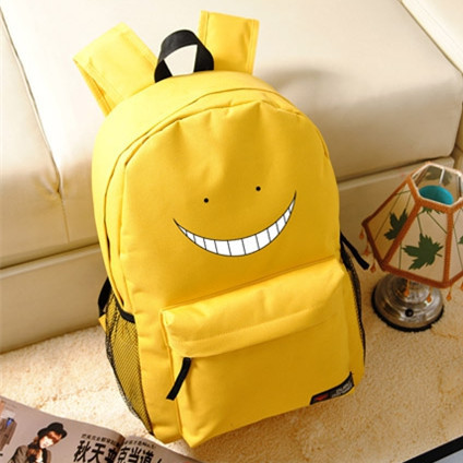 Candy Color Japanese Anime Assassination Classroom Korosensei Emoji Canvas Printing Backpack School Bags For Teenagers
