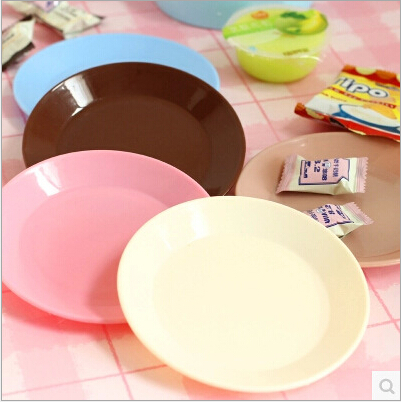 Exquisite home Colorful tableware Saucer Flat plate snack seeds Food-grade plastic snack dish Creative & Exquisite home Colorful tableware Saucer Flat plate snack seeds Food ...