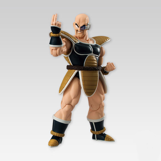 Japan Anime Dragon Ball Z Original BANDAI Tamashii Nations SHODO Vol.4 Action Figure - Nappa (9cm tall) cmt original bandai tamashii nations s h figuarts shf dragon ball db kid son gokou action figure anime figure pvc toys figure
