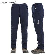 THE ARCTIC LIGHT Hunting Climbing Camping Trekking Ski Pants Soft shell Winter Thickening Waterproof Keep Warmth Men Women 5XL