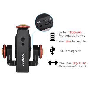 Image 5 - Andoer L4 PRO  Remote Control Mini Skater Motorized Camera Video Dolly Track Sliderfor Canon Nikon Sony DSLR Camera
