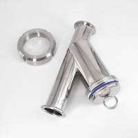 3/4 1 1 1/4 1 1/2 Pipe OD x 1.5 Tri Clamp Sanitary Y Shaped Strainer Filiter SUS 304 Stainless Steel For Beer Brewing