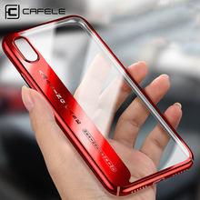 CAFELE Phone case for iphone X Cover Ultra Thin Transparent Plating cases Apple Fashion PC Hard back Case