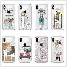 Spain Cute Cartoon Medicine Nurse Doctor Dentist TPU Soft Silicone Case For iPhone 11 Pro MAX X10 XR  XS 7 8Plus 5S 6 6SPlus