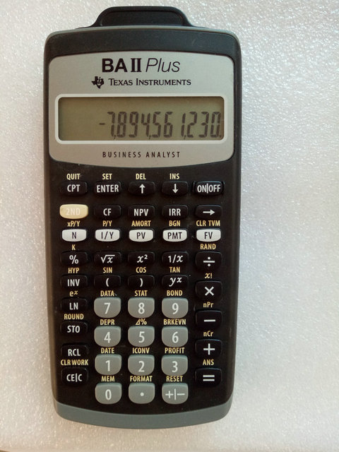 Texas Instruments TI BAII PLUS Financial Calculator CFA Approved