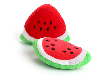 12cm Chew Squeaker Squeaky Plush Sound Fruits Vegetables Feeding Toys Carrot Banana Star Cloud Strawberry Stuffed Dolls(China)
