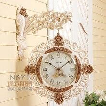 q 27 inches european style double side wall clock creative fashion large modern minimalist quartz mute