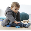 Children's horn pure color hooded jacket.  boy from the spring/autumn fashion coat. Children's clothes.