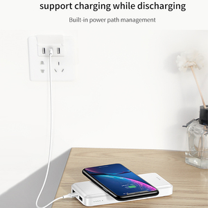 Image 5 - Baseus 10000mah Power Bank Wireless Charger Fast Charging for iPhone Samsung Huawei Xiaomi Dual USB Charge External Battery Pack