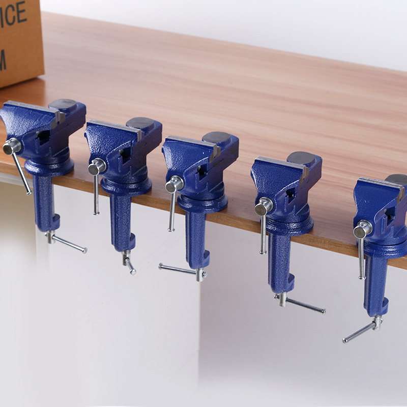 Jewelers Hobby Clamp on Table 360 Degrees Rotation Small Table Clamp Bench Vise Tool Vice New free shipping aluminum alloy table vice mini bench vise diy tools swivel lock clamp vice craft jewelry hobby vise jaw width 40mm