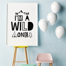 I Am A Wild Anime Minimalist Canvas Painting Oil Print Poster Wall Art HD Picture For Kid Living Home Bedroom Decor