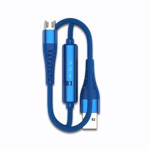 Ranboda 2m USB 3,0 Micro USB Kabel 3A Schnelle Lade mit Timer und Power Schalter für Android Telefon Nylon geflochtene Metall Stecker