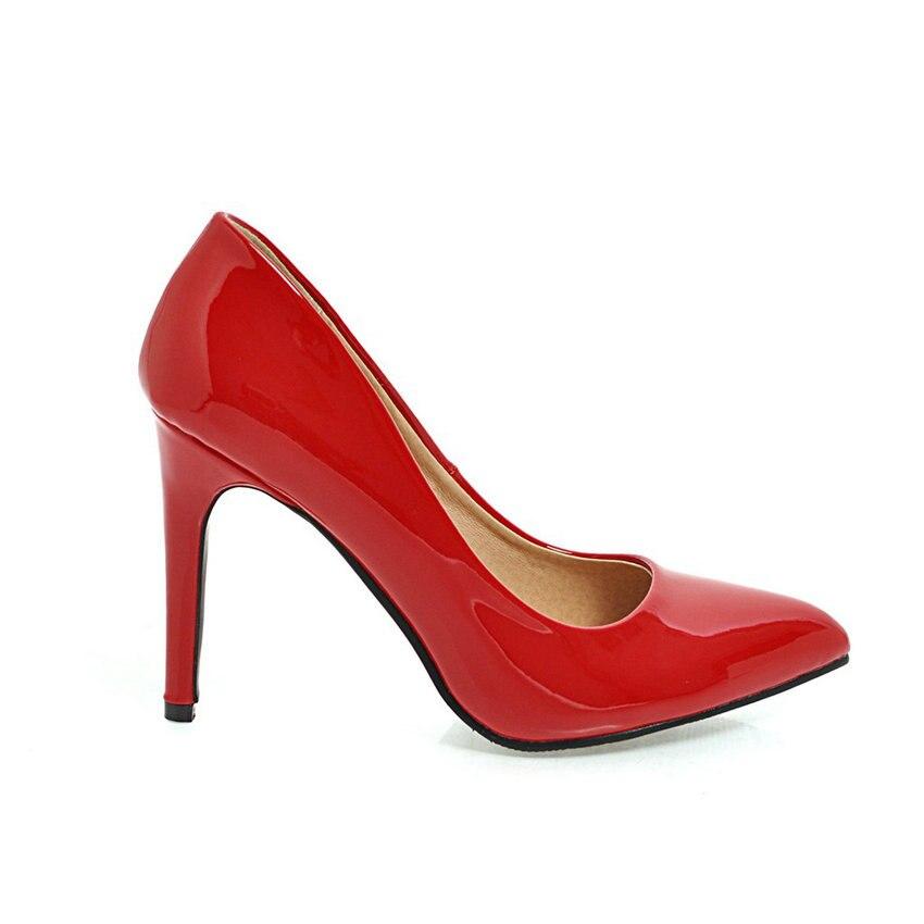 ESVEVA 2018 Women Pumps Slip on shallow Elegant Thin High Heels Pointed Toe Elegant Wedding Pumps Women Shoes Size 34-43 Islamabad